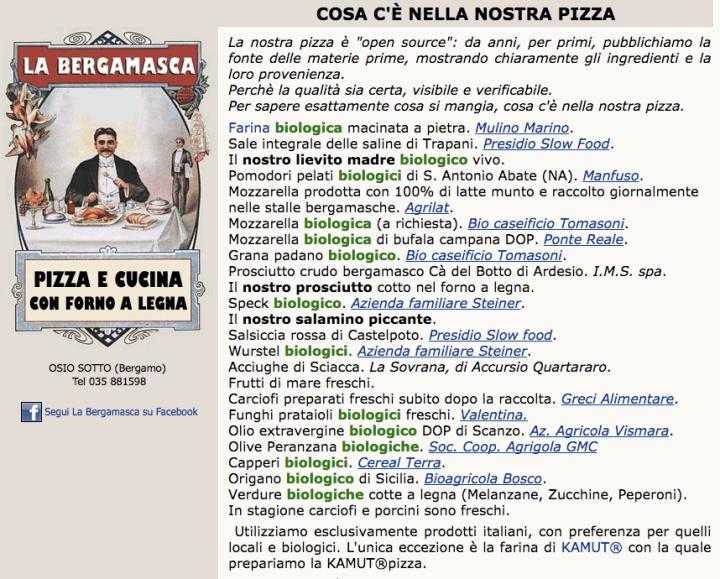 Bergamasca - Ingredients
